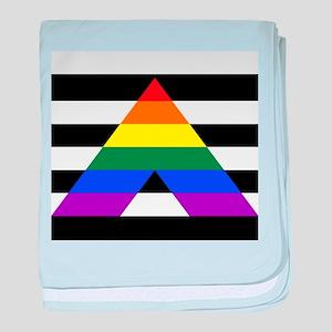 Straight Ally flag baby blanket