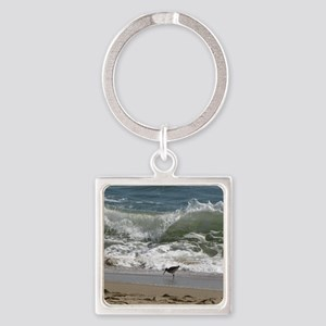 KDH_Bird_Wave_16x20_withCopyright Square Keychain