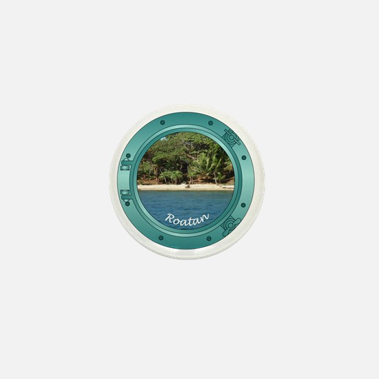 RoatanBeach-Porthole Mini Button