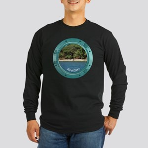 RoatanBeach-Porthole Long Sleeve Dark T-Shirt