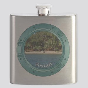 RoatanBeach-Porthole Flask