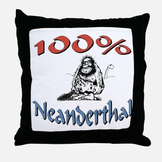 caveman.for.black Throw Pillow