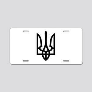 Tryzub (Black) Aluminum License Plate