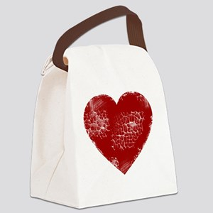 distressed heart Canvas Lunch Bag