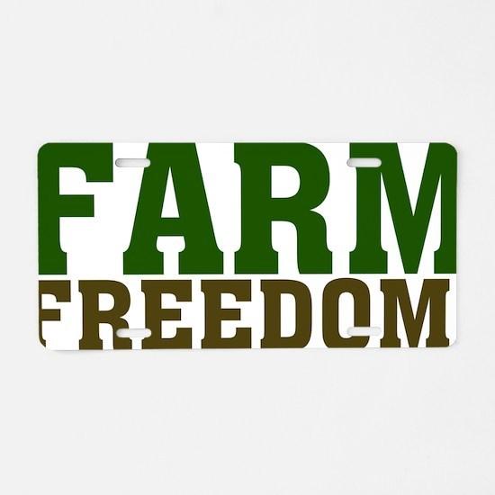Farm Freedom Aluminum License Plate