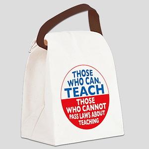 who can teach Circle Canvas Lunch Bag