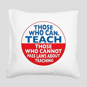 who can teach Circle Square Canvas Pillow