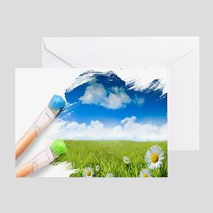 GMCVH paint brush Greeting Card