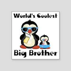 "big brother penguin Square Sticker 3"" x 3"""