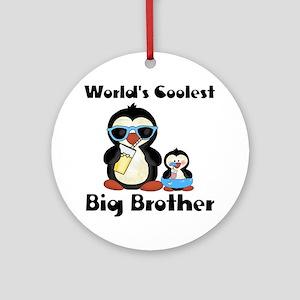 big brother penguin Round Ornament