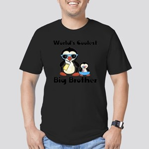 big brother penguin Men's Fitted T-Shirt (dark)
