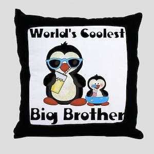 big brother penguin Throw Pillow
