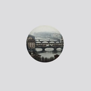 Bridges of Florence Italy Mini Button