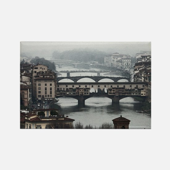 Bridges of Florence Italy Rectangle Magnet