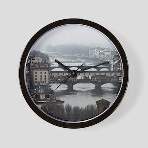 Bridges of Florence Italy Wall Clock