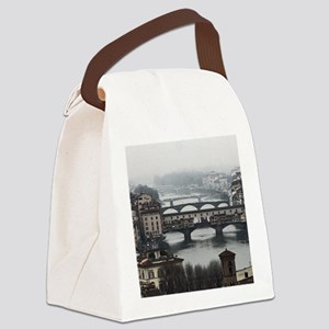 Bridges of Florence Italy Canvas Lunch Bag
