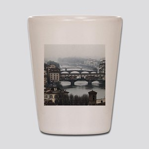 Bridges of Florence Italy Shot Glass