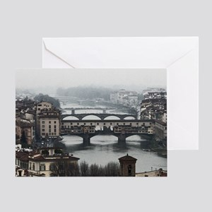Bridges of Florence Italy Greeting Card