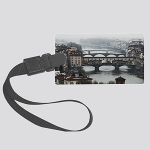Bridges of Florence Italy Large Luggage Tag