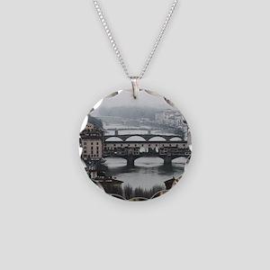 Bridges of Florence Italy Necklace Circle Charm