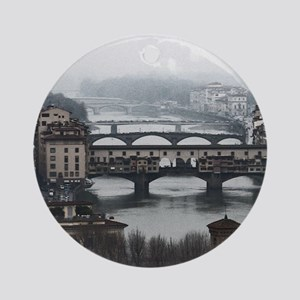 Bridges of Florence Italy Round Ornament