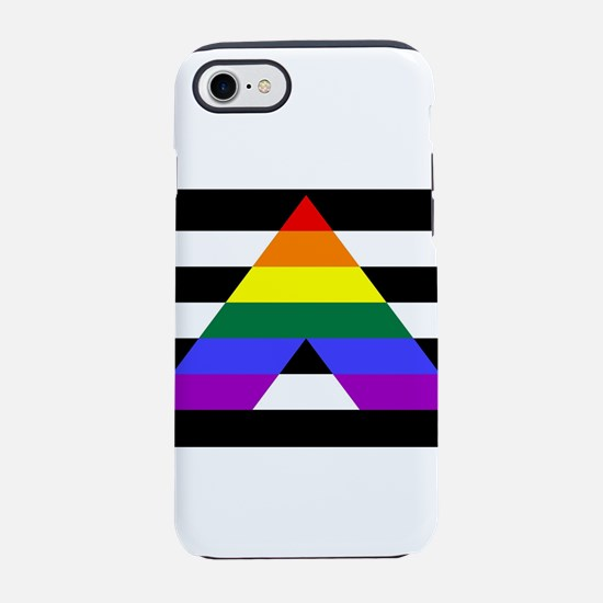 Straight Ally flag iPhone 7 Tough Case