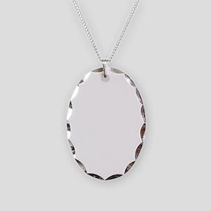WhiteSwoosh Necklace Oval Charm