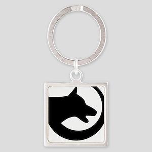dog-swoosh-PoL-logo Square Keychain