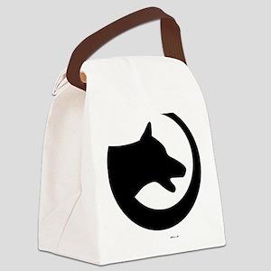 dog-swoosh-PoL-logo Canvas Lunch Bag