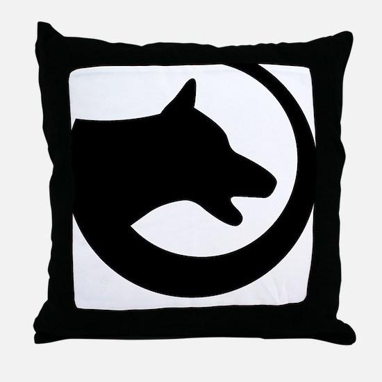 dog-swoosh-PoL-logo Throw Pillow