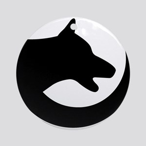 dog-swoosh-PoL-logo Round Ornament