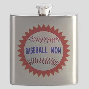 Baseball Mom Emblem Seal T-Shirts  Gifts Flask