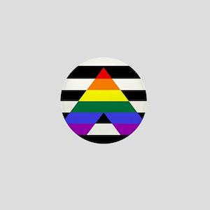Straight Ally flag Mini Button