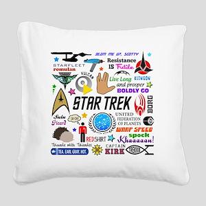 Trekkie Memories Square Canvas Pillow