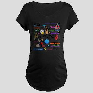 Trekkie Memories Maternity Dark T-Shirt