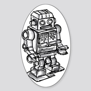 robot Sticker (Oval)