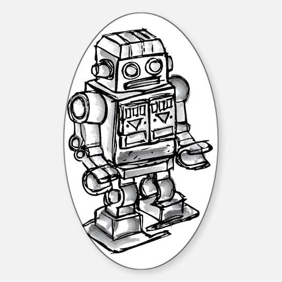 robot Sticker (Oval)