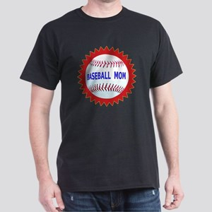 Baseball Mom Emblem Seal Gift Product Dark T-Shirt