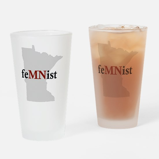 feMNist Drinking Glass