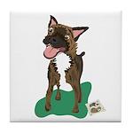 Brindle Terrier Tile Coaster