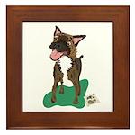 Brindle Terrier Framed Tile