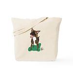 Brindle Terrier Tote Bag