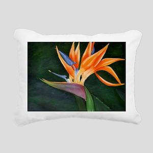 Bird of Paradise (Oil) Rectangular Canvas Pillow