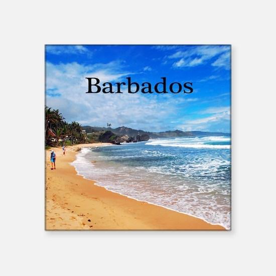 "Barbados62x52 Square Sticker 3"" x 3"""
