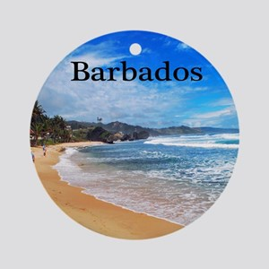 Barbados62x52 Round Ornament