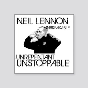 "Lennon Unstoppable Square Sticker 3"" x 3"""
