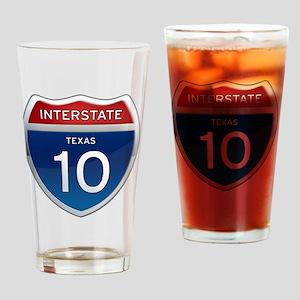 Interstate 10 - Texas Drinking Glass