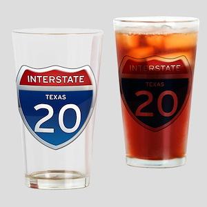 Interstate 20 - Texas Drinking Glass