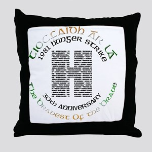 Hunger Strike 30th Anniversary Throw Pillow