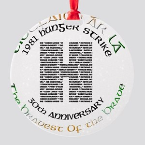 Hunger Strike 30th Anniversary Round Ornament